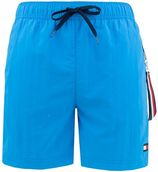 colored pocket zwemshort blauw