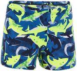 Nabaiji Zwemboxer voor jongens 500 Fit Allshark geel/blauw