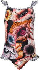 Beachlife badpak in bloemenprint zwart