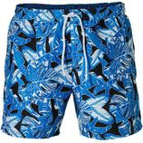 Boss zwemshort in all over print blauw