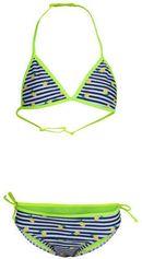 WE Fashion bikini met print blauw/geel