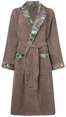 Essenza Fleur badjas met contrastvoering en bloemendessin