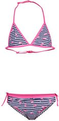 WE Fashion gestreepte bikini met flamingo's roze