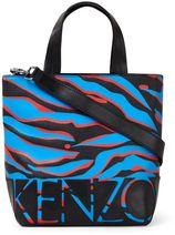 KENZO Mini Logo shopper van leer met tijgerdessin