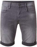 G-Star RAW 3301 slim fit jeans shorts met omgeslagen boord