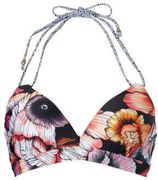 Beachlife halter bikinitop met all-over print