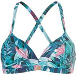 TC WOW halter bikinitop met all-over print blauw