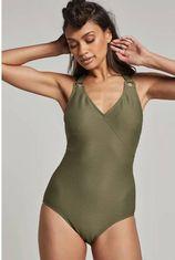whkmp's beachwave corrigerend halter badpak groen