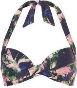 TC WOW halter bikinitop met all-over print