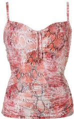 Cyell tankini bikinitop in all over print rood