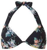 O'Neill halter bikinitop met bloemen zwart
