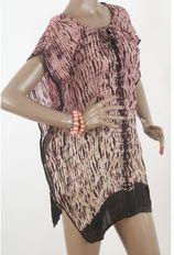 Zijden geplisseerde tie & dye tuniek