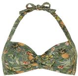 ESPRIT Women Beach halter bikinitop met all-over print groen