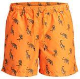 JACK & JONES zwemshort in een all over print oranje
