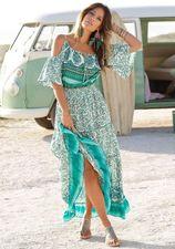 Lascana Maxi-jurk met randprint bij de zoom