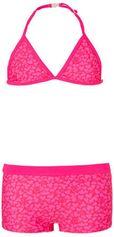 Just Beach triangel bikini met hartjes print roze