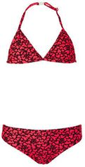 Just Beach triangel bikini met hartjes print rood