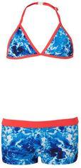 Just Beach triangel bikini met water print blauw