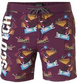 Scotch & Soda zwemshort met all-over print paars