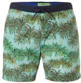 Scotch & Soda zwemshort met palmboom lichtblauw