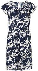 whkmp's beachwave geweven viscose jurk met bladprint