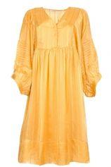 Gestreepte jurk Elly  geel