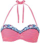 s.Oliver gestreepte strapless beugel bikinitop rood