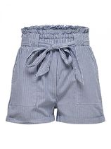 ONLY Paperbag Shorts Dames Blauw