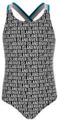River Island badpak in all over print zwart