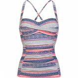 Protest Mm Femme 19 C-cup Tankini Top Dames Gebroken Wit