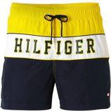 Tommy Hilfiger zwemshort met tekst geel/marine