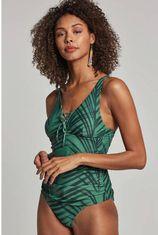 whkmp's beachwave corrigerende tankini bikinitop in all over print groen