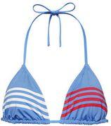 Tommy Hilfiger triangel bikinitop met strepen lichtblauw