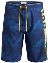 JACK & JONES, Heren Zwemshorts, blauw / lichtblauw / geel
