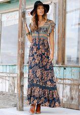 Buffalo maxi-jurk met bloemenprint