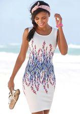 Lascana scuba-jurk met bloemenprint
