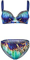 Bikini Sunflair blauw gedessineerd