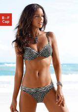 Lascana Bikinitop met beugels Safari met uitneembare vullingen