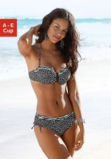 Lascana bandeau-bikinitop Safari met patroonmix