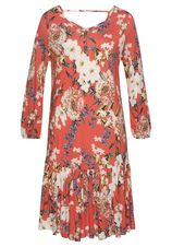 s.Oliver RED LABEL Beachwear Jerseyjurk met bloemenprint