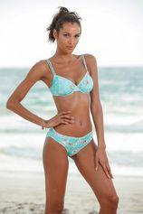 Sunseeker bikinitop met beugels Ditsy met gehaakt randje