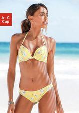 Sunseeker push-upbikinitop Ditsy met gehaakt randje