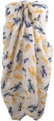 Ivoorkleurige sarong met kreeftjes print