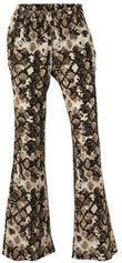 whkmp's beachwave palazzo broek met slangenprint beige/zwart