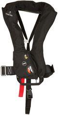 Tribord Opblaasbaar reddingsvest voor volwassenen LJ150N Air met harnas zwart