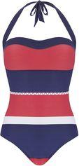 Strapless badpak Big Stripe rood