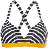 bikini top Horizontal pinstripe zwart