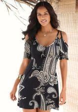 Lascana lang shirt met trendy uitsparingen