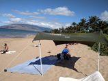 Otentik original Olijf groen strand schaduwdoek/zonnetent-225x 225x 170cm