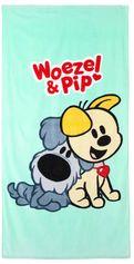 Woezel & Pip strandlaken Woezel & Pip (75x150 cm) Blauw/Multi